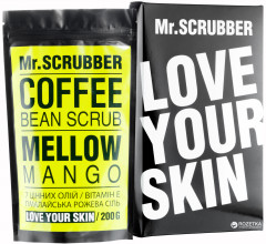 Кофейный скраб для тела Mr.Scrubber Mellow Mango для всех типов кожи 200 г (4820200230740)
