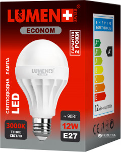 Светодиодная лампа LUMEN Econom LED E27 12W 18 pcs WW BL02 (CP-BL02-12WC-3000K-E27)