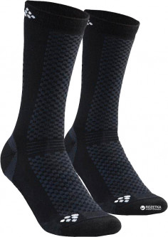 Комплект носков Craft Warm Mid 2-Pack Sock 1905544-999900 40/42 2 пары Black/White (7318572727250)
