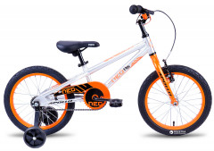 "Велосипед Apollo 16"" Neo boys Brushed Alloy Orange-Black 2018 (SKD-09-29)"