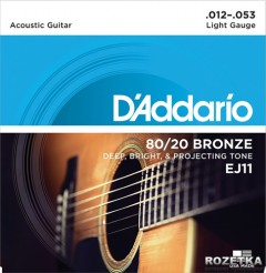 DAddario EJ11 80/20 Bronze Light (12-53)