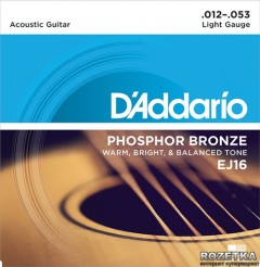DAddario EJ16 Phosphor Bronze Light (12-53)