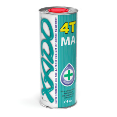 Моторное масло XADO Atomic Oil 4T MA SuperSynthetic 10W-40 1л