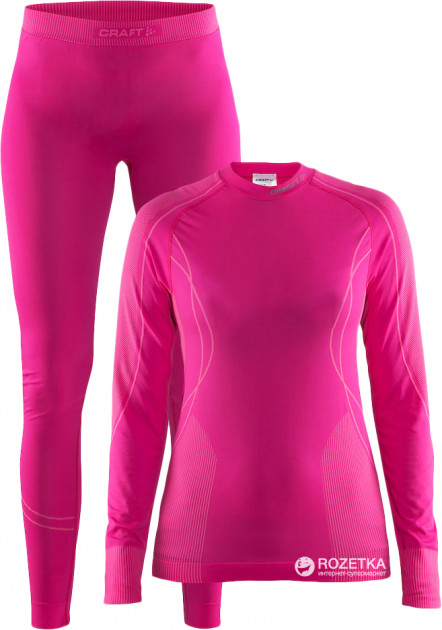 Комплект женского термобелья Craft Baselayer Seamless Zone Set Woman 1905329-2403 XL Smoothie/Pop (7318572708563)
