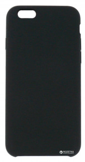 Панель DENGOS Back Cover Silicon для Apple iPhone 6/6s Black (DG-BCS-01)