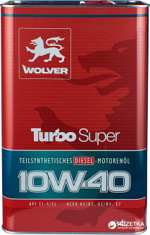 Моторное масло Wolver Turbo Super 10W-40 4 л (4260360941191)
