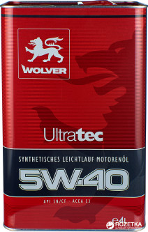 Моторное масло Wolver UltraTec 5W-40 4 л (4260360940811)