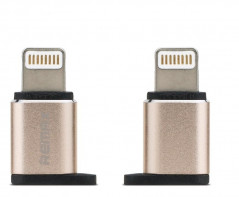 Переходник Remax RA-USB2 micro-lightning Gold