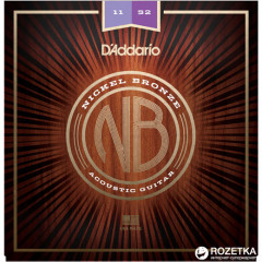 D'Addario NB1152 Nickel Bronze Custom Light (11-52)