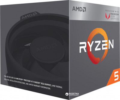 Процесор AMD Ryzen 5 2400G 3.6GHz / 4MB (YD2400C5FBBOX) sAM4 BOX