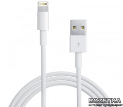 Кабель PowerPlant USB - Lightning (iPhone 5, 5S, 6) 1 м (DV00DV4042)