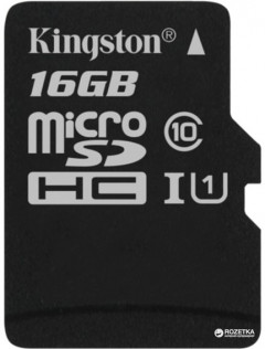 Kingston microSDHC 16GB Canvas Select Class 10 UHS-I U1 (SDCS/16GBSP)