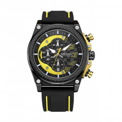 Часы Megir Black Yellow Black MG2051 (MN2051G-BK-1-N13)
