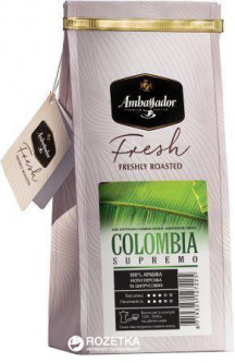 Кофе молотый Ambassador Fresh Colombia Supremo 200 г (8719325127225)