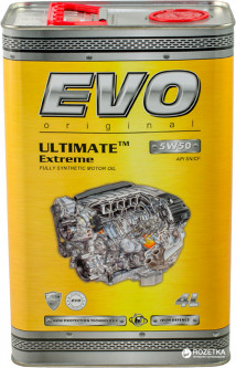 Моторное масло EVO Ultimate Extreme 5W-50 4 л