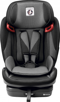 Автокресло Peg-Perego Viaggio 1-2-3 Via Crystal black Серое с черным (IMVA000035DP53DX13) (8005475374368)