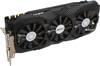 MSI PCI-Ex GeForce GTX 1070 Ti Duke 8GB GDDR5 (256bit) (1607/8008) (DVI, HDMI, 3 x DisplayPort) (GeForce GTX 1070 Ti DUKE)