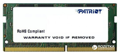 Оперативна пам'ять Patriot SODIMM DDR4-2400 4096MB PC4-19200 Signature Line (PSD44G240082S)