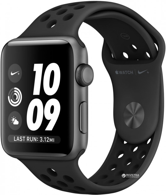 Apple Watch Series 3 Nike+ GPS 42mm Space Gray Aluminium Case with Anthracite/Black Nike Sport Band (MQL42)