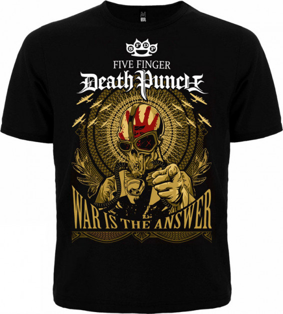 "Футболка Rockway Five Finger Death Punch ""War Is The Answer"" Черный (00000000478) XXL"
