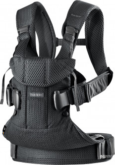 Рюкзак Baby Bjorn Baby Carrier One Black Mesh Черный (98025) (7317680980250)