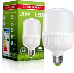 Светодиодная лампа Euroelectric LED Plastic 20W E27 4000K (LED-HP-20274(P))