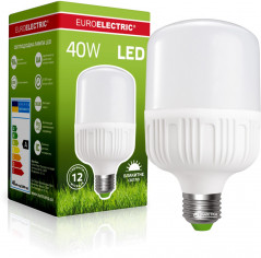 Светодиодная лампа Euroelectric LED Plastic 40W E27 6500K (LED-HP-40276(P))