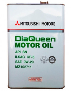 Моторное масло Mitsubishi Dia Queen Motor Oil 0W-20 SN 4л MZ102711