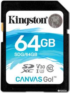 Kingston SDXC 64GB Canvas Go! Class 10 UHS-I U3 (SDG/64GB)