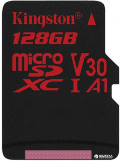 Kingston microSDXC 128GB Canvas React Class 10 UHS-I U3 V30 (SDCR/128GBSP)