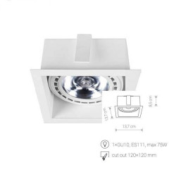 Светильник Downlight Nowodvorski 9413 Mod White