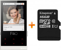 FiiO M3 White + Карта памяти Kingston microSDHC 16GB Canvas Select Class 10 UHS-I U1 в подарок!