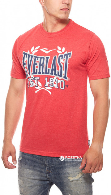 Футболка Everlast K01451 Logo Cotton T-Shirt Boxing Mens S Red (647903870615)