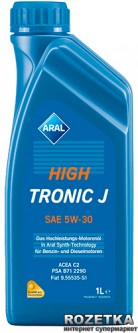 Моторное масло Aral HighTronic J SAE 5W-30 1 л (151CED)