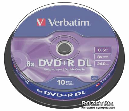 DVD+R 8.5 GB DL 8x Cake 10 шт