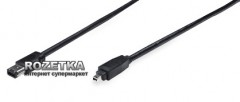 Кабель Manhattan FireWire 4-pin-6-pin 1.8m Black (323819)