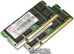 Оперативная память G.Skill SODIMM DDR2-800 4096MB PC2-6400 (Kit of 2x2048) (F2-6400CL5D-4GBSQ)
