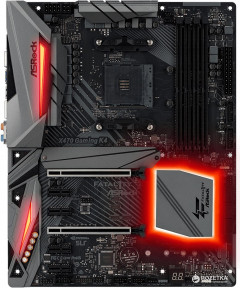 Материнская плата ASRock FATAL1TY X470 Gaming K4 (sAM4, AMD X470, PCI-Ex16)