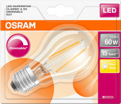 Светодиодная лампа Osram LED Superstar FIL A60 DIM 7.5W (806Lm) 2700K E27 (4052899961869)