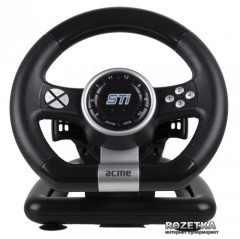 Проводной руль Acme Racing Wheel Sti PC Black (4770070870709)