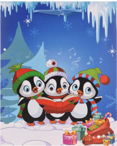 Подарочный пакет Christmas Decoration Penguins 42 x 30 x 12 см (CAA717220_penguins)