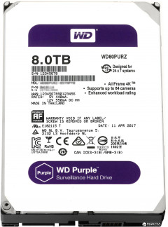 Жесткий диск Western Digital Purple 8TB 256MB 5400rpm WD81PURZ 3.5 SATA III