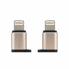Адаптер Remax Micro USB - Lightning RA-USB2 Gold