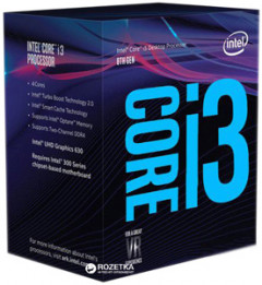 Процессор Intel Core i3-8300 3.7GHz/8GT/s/8MB (BX80684I38300) s1151 BOX