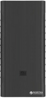 Чехол силиконовый для УМБ Xiaomi Mi Power Bank 2i 10000 mAh 2xUSB Black (PLM09ZMBlack)