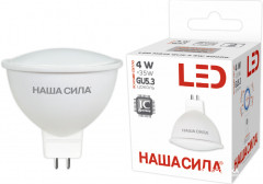 Светодиодна лампа НАША СИЛА LED MR16 GU5.3 4W 4000K (6922363160334)