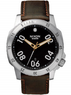 Часы NIXON A508-019 Ranger Leather Black Brown 44mm 10ATM