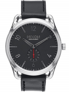 Часы NIXON A465-008 C45 Leather Black Red 45mm 10ATM