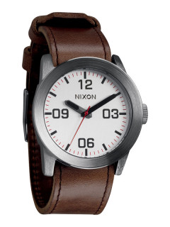 Часы NIXON Private A049-1113 Silver Brown Herrenuhr