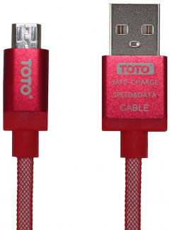 Кабель TOTO TKG-30 Silk Sreen Metal USB cable microUSB 1m Red